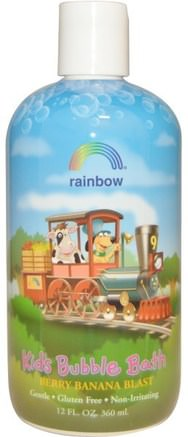Kids Bubble Bath, Berry Banana Blast, 12 fl oz (360 ml) by Rainbow Research-Bad, Skönhet, Bubbelbad, Barns Hälsa, Barnbad