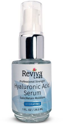 Hyaluronic Acid Serum, 1 fl oz (29.5 ml) by Reviva Labs-Skönhet, Ansiktsvård, Krämer Lotioner, Serum, Hälsa, Hudserum