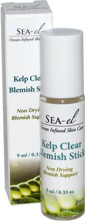 Kelp Clear Blemish Stick, 0.33 oz (9 ml) by Sea el-Skönhet, Akne Aktuella Produkter, Hud