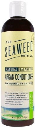 Natural Balancing Argan Conditioner, Eucalyptus & Peppermint, 12 fl oz (360 ml) by Seaweed Bath Co.-Bad, Skönhet, Argan Conditioner, Hår, Hårbotten, Schampo, Balsam