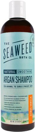 Natural Smoothing Argan Shampoo, Citrus Vanilla, 12 fl oz (360 ml) by Seaweed Bath Co.-Bad, Skönhet, Arganschampo, Hår, Hårbotten, Schampo, Balsam