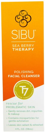 Sea Berry Therapy, Polishing Facial Cleanser, Sea Buckthorn Oil, T7, 4 fl oz (118 ml) by Sibu Beauty-Skönhet, Ansiktsvård, Hud, Ansiktsrengöring