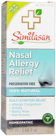 Nasal Allergy Relief, 0.68 fl oz (20 ml) by Similasan-Hälsa, Nasal Hälsa, Nässprayer, Allergier, Allergi