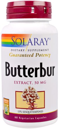 Butterbur, Extract, 50 mg, 60 Veggie Caps by Solaray-Hälsa, Allergier, Butterbur