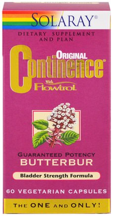 Original Continence with Flowtrol, 60 Veggie Caps by Solaray-Hälsa, Allergier, Butterbur
