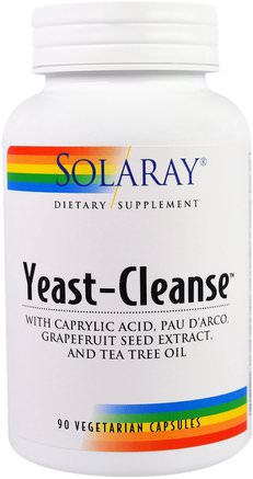 Yeast-Cleanse, 90 Vegetarian Capsules by Solaray-Hälsa, Detox
