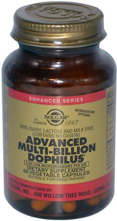 Advanced Multi-Billion Dophilus, 60 Vegetable Capsules by Solgar-Kosttillskott, Probiotika, Acidophilus