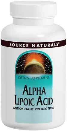 Alpha Lipoic Acid, 100 mg, 120 Tablets by Source Naturals-Kosttillskott, Antioxidanter, Alfapoidsyra, Alfa Liposyra 100 Mg
