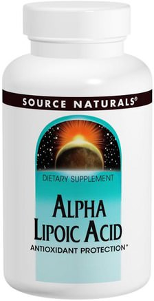 Alpha Lipoic Acid, 200 mg, 120 Tablets by Source Naturals-Kosttillskott, Antioxidanter, Alfa-Liposyra, Alfa-Liposyra 200 Mg