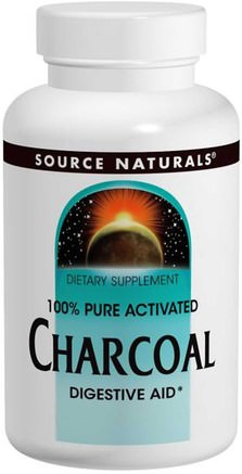 Charcoal, 260 mg, 200 Capsules by Source Naturals-Kosttillskott, Mineraler, Aktivt Kol
