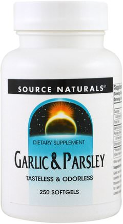 Garlic & Parsley, 250 Softgels by Source Naturals-Kosttillskott, Antibiotika, Vitlök, Örter, Persilja