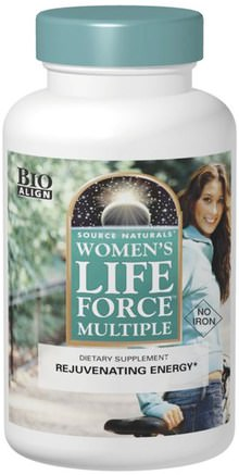 Womens Life Force Multiple, No Iron, 90 Tablets by Source Naturals-Hälsa, Kvinnor, Livskraft