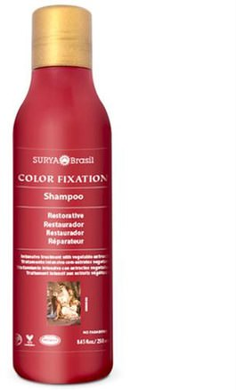 Restorative Shampoo, Color Fixation, 8.45 fl oz (250 ml) by Surya Henna-Bad, Skönhet, Schampo, Hår, Hårbotten, Balsam