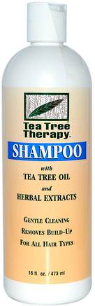Shampoo, With Tea Tree Oil and Herbal Extracts, 16 fl oz (473 ml) by Tea Tree Therapy-Bad, Skönhet, Schampo, Hår, Hårbotten, Balsam