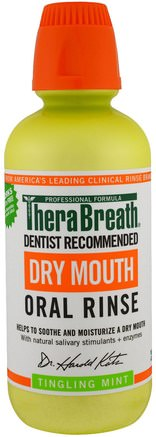 Dry Mouth Oral Rinse, Tingling Mint, 16 fl oz (473 ml) by TheraBreath-Bad, Skönhet, Oral Tandvård, Munhygienprodukter, Hälsa, Muntorrhet