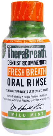 Fresh Breath Oral Rinse, Mild Mint Flavor, 3 fl oz (88.7 ml) by TheraBreath-Bad, Skönhet, Oral Tandvård, Munhygienprodukter, Hälsa, Muntorrhet