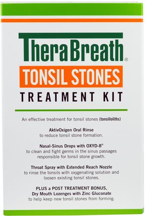 Tonsil Stones Treatment Kit, 5 Piece Kit by TheraBreath-Bad, Skönhet, Oral Tandvård, Munhygienprodukter, Hälsa, Kall Influensa Och Viral, Halsvårdspray