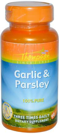 Garlic & Parsley, 90 Capsules by Thompson-Kosttillskott, Antibiotika, Vitlök