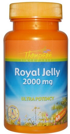 Royal Jelly, 2000 mg, 60 Capsules by Thompson-Kosttillskott, Biprodukter, Royal Gelé