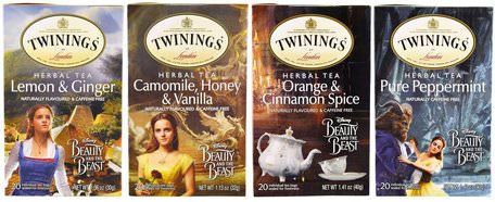 Herbal Tea Variety Pack, Special Edition, Beauty and the Beast, 4 Boxes, 20 Tea Bags Each by Twinings-Mat, Örtte, Presentuppsättningar