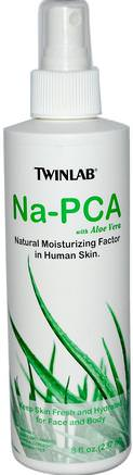 Na-PCA with Aloe Vera, For Face and Body, 8 fl oz (237 ml) by Twinlab-Hälsa, Hud, Aloe Vera, Aloe Vera Vätska