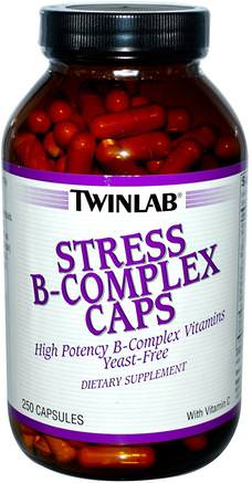 Stress B-Complex Caps, 250 Capsules by Twinlab-Vitaminer, Vitamin B, Vitamin B-Komplex, B-Anti-Stress