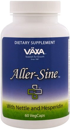 Aller-Sine, 60 Veggie Caps by Vaxa International-Kosttillskott, Hälsa, Allergier