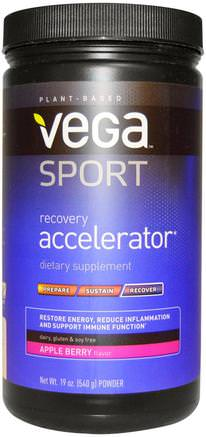 Sport, Recovery Accelerator, Powder, Apple Berry, 19 oz (540 g) by Vega-Sport, Sport