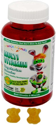 Multi Vitamin, Vegetarian Gummies, 90 Grape Pectin Gummies by Vitamin Friends-Vitaminer, Multivitaminer, Multivitamingummier, Barnhälsa, Barngummier