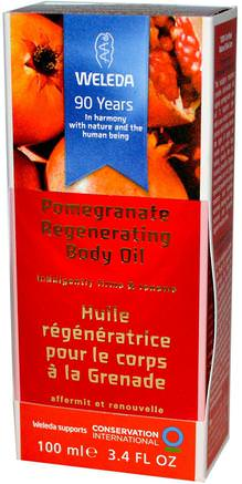 Pomegranate Regenerating Body Oil, 3.4 fl oz (100 ml) by Weleda-Hälsa, Hud, Massageolja
