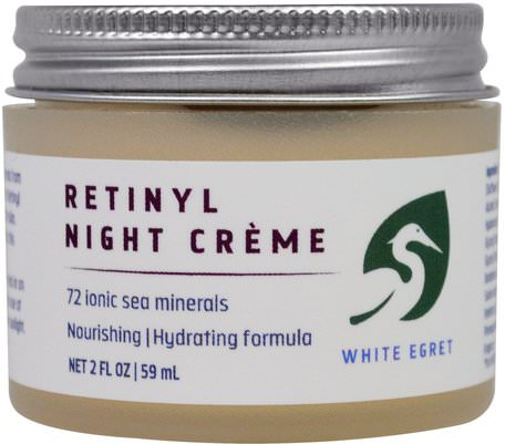 Retinyl Night Cream, 2 fl oz (59 ml) by White Egret Personal Care-Skönhet, Ansiktsvård, Krämer Lotioner, Serum, Retinol Hud