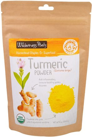 Turmeric Powder, 8 oz (226.8 g) by Wilderness Poets-Kosttillskott, Antioxidanter, Curcumin, Gurkmeja