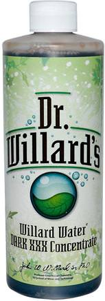 Willard Water, Dark XXX Concentrate, 16 oz (0.473 l) by Willard-Hälsa