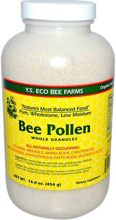 Bee Pollen, Whole Granules, 16.0 oz (453 g) by Y.S. Eco Bee Farms-Kosttillskott, Biprodukter, Bipollen