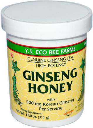 Ginseng Honey, 11.0 oz (311 g) by Y.S. Eco Bee Farms-Kosttillskott, Adaptogen, Sötningsmedel