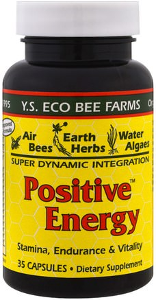 Positive Energy, 35 Capsules by Y.S. Eco Bee Farms-Kosttillskott, Biprodukter, Bipollen