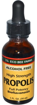 Propolis, High Strength, Alcohol Free, 1 fl oz (30 ml) by Y.S. Eco Bee Farms-Kosttillskott, Biprodukter, Bi Propolis
