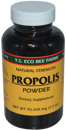 Propolis Powder, 2.5 oz (70.000 mg) by Y.S. Eco Bee Farms-Kosttillskott, Biprodukter, Bi Propolis