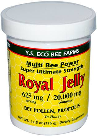 Royal Jelly, 11.5 oz (326 g) by Y.S. Eco Bee Farms-Kosttillskott, Biprodukter, Royal Gelé, Mat, Sötningsmedel