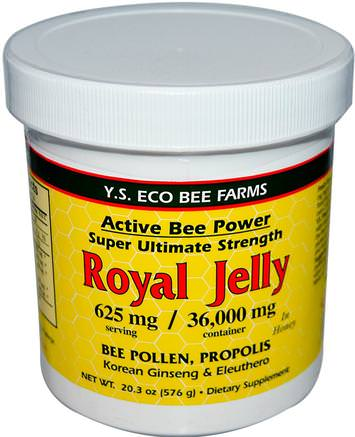Royal Jelly, 20.3 oz (576 g) by Y.S. Eco Bee Farms-Kosttillskott, Biprodukter, Royal Gelé, Mat, Sötningsmedel