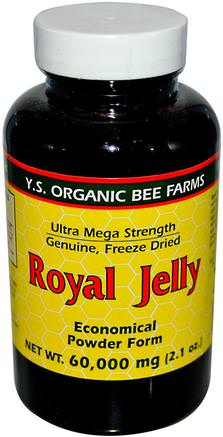 Royal Jelly, Economical Powder Form, 2.1 oz (60.000 mg) by Y.S. Eco Bee Farms-Kosttillskott, Biprodukter, Royal Gelé