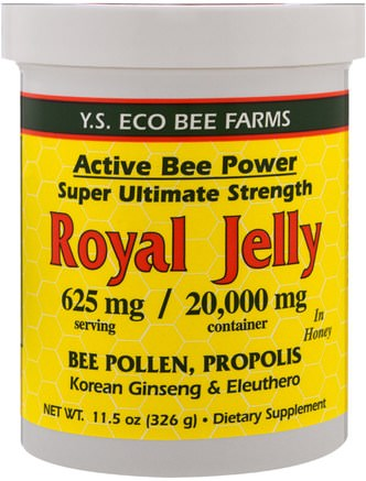 Royal Jelly in Honey, 625 mg, 11.5 oz (326 g) by Y.S. Eco Bee Farms-Kosttillskott, Biprodukter, Bipollen