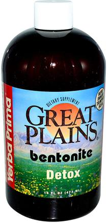 Great Plains, Bentonite, Detox, 16 fl oz (473 ml) by Yerba Prima-Kosttillskott, Bentonit, Detox