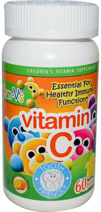 Vitamin C, Yummy Orange Flavor, 60 Jellies by Yum-Vs-Vitaminer, Vitamin C, Vitamin C Gummies, Barns Hälsa, Barngummier