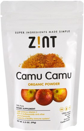 Camu Camu Organic Powder, 3.5 oz (99 g) by Z!NT-Kosttillskott, Superfoods, Antioxidanter
