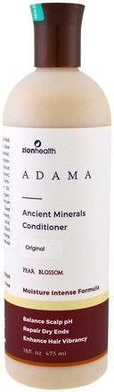 Adama, Ancient Minerals Conditioner, Pear Blossom, 16 fl oz (473 ml) by Zion Health-Bad, Skönhet, Hår, Hårbotten, Schampo, Balsam, Balsam