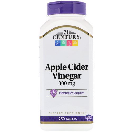 21st Century, Apple Cider Vinegar, 300 mg, 250 Tablets Review