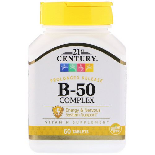 21st Century, B-50 Complex, Prolonged Release, 60 Tablets Review