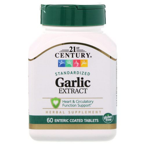 21st Century, Garlic Extract, Standardized, 60 Enteric Coated Tablets Review