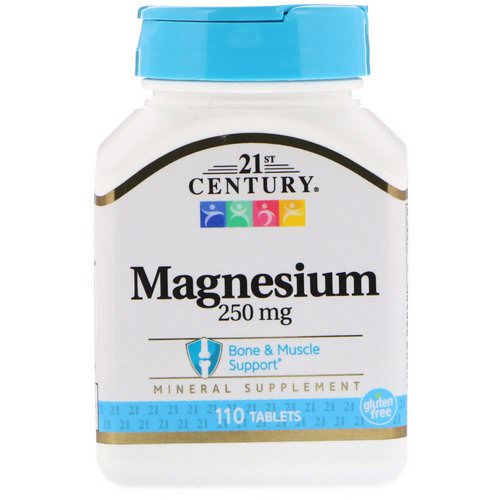 21st Century, Magnesium, 250 mg, 110 Tablets Review